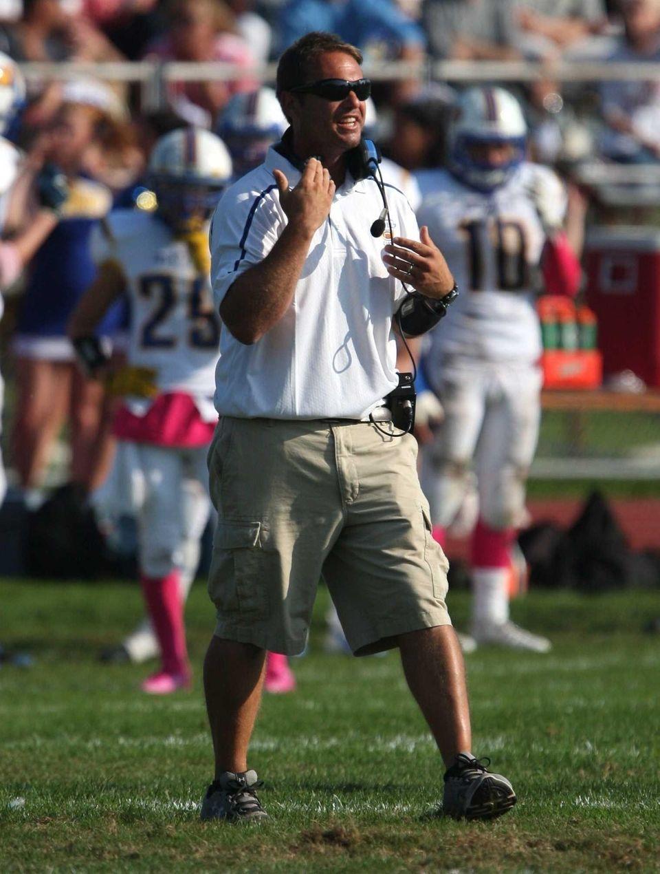West Islip head coach Steve Meliti is seen
