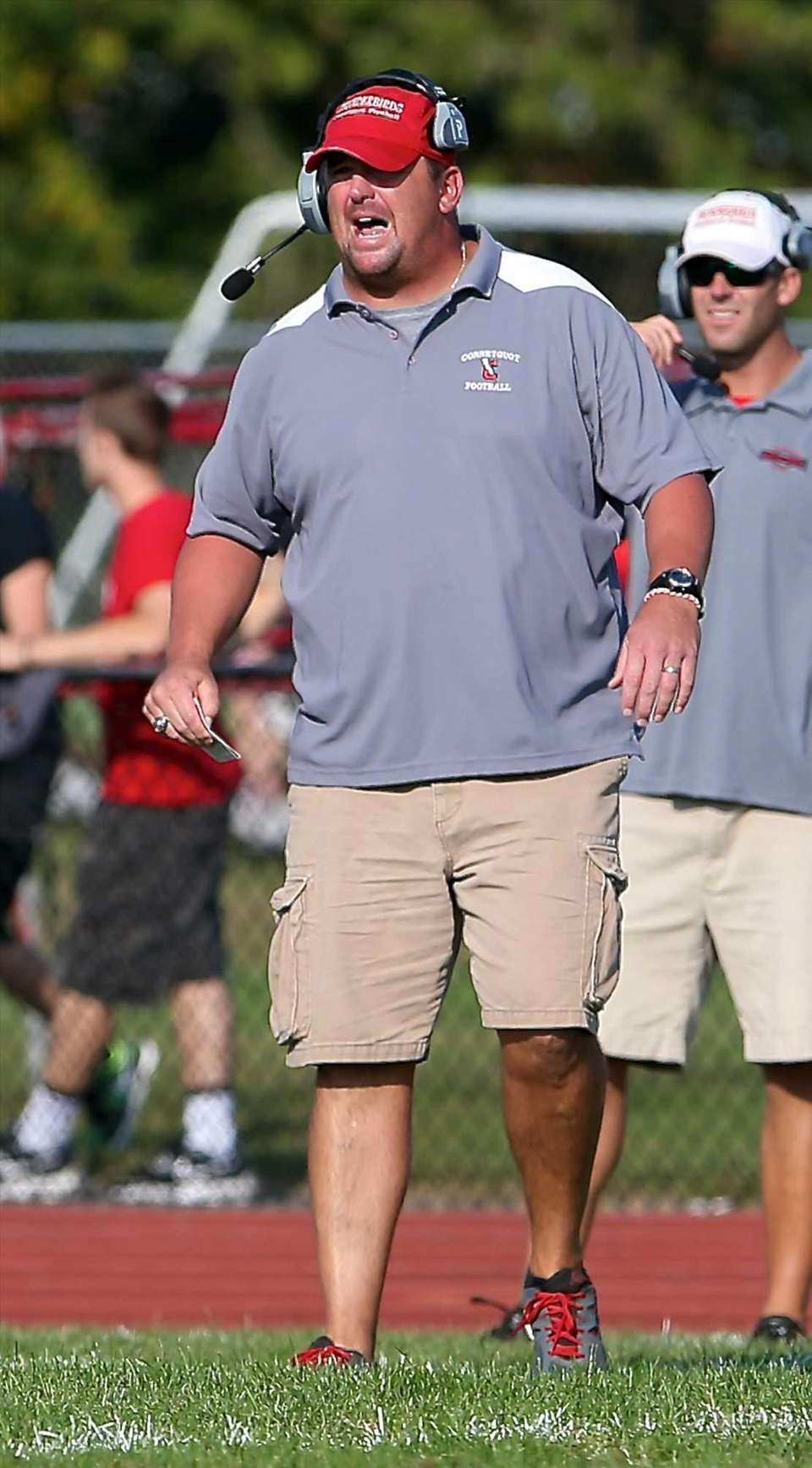 Connetquot coach Mike Hansen is seen during the