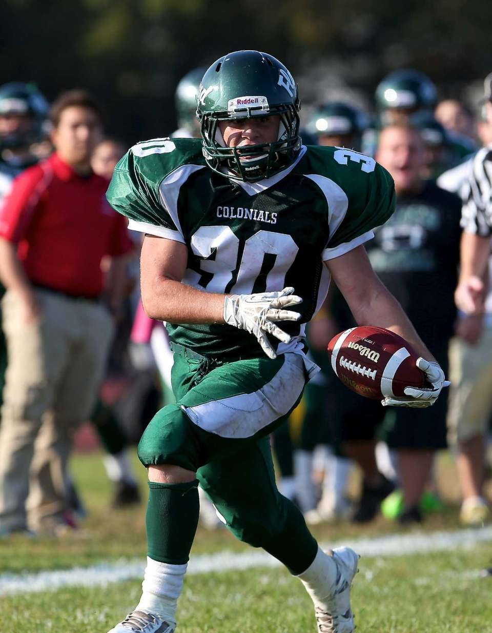 William Floyd running back Vinny Labate scores the