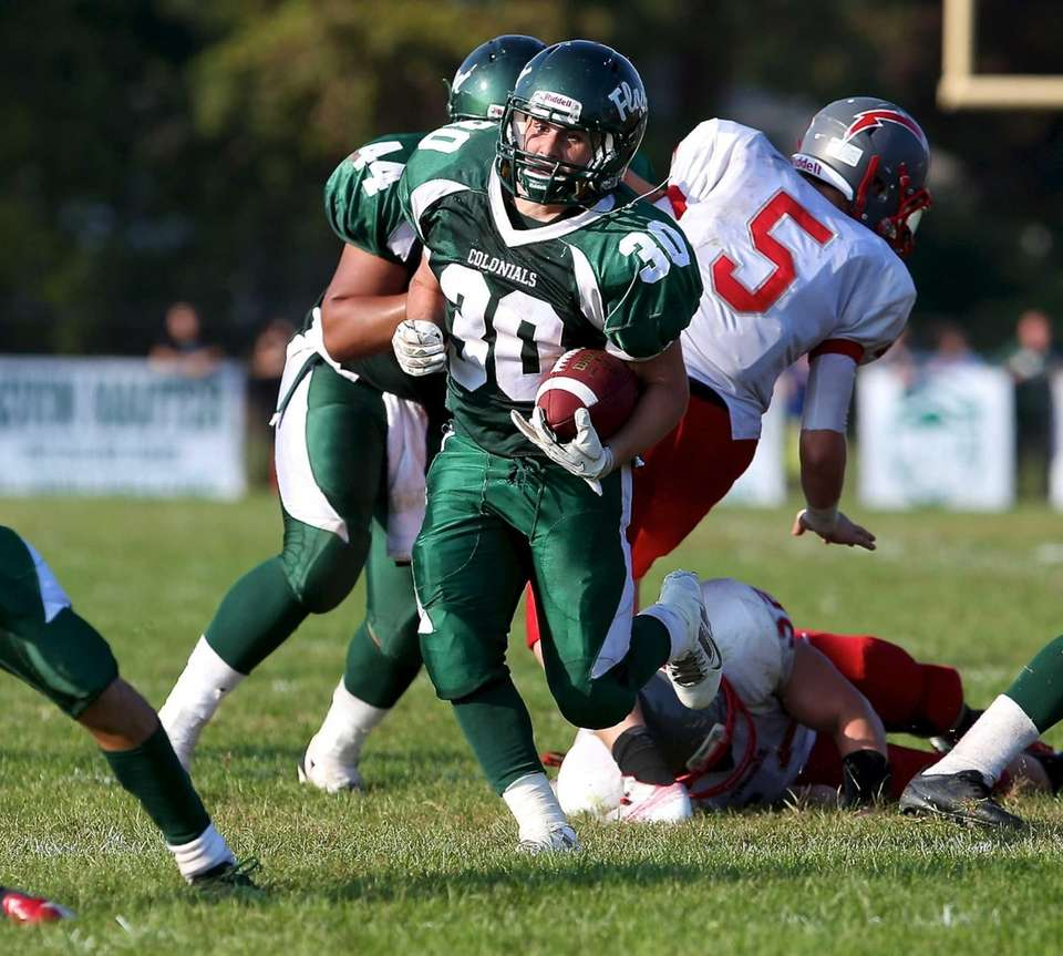 William Floyd running back Vinny Labate (no. 30)