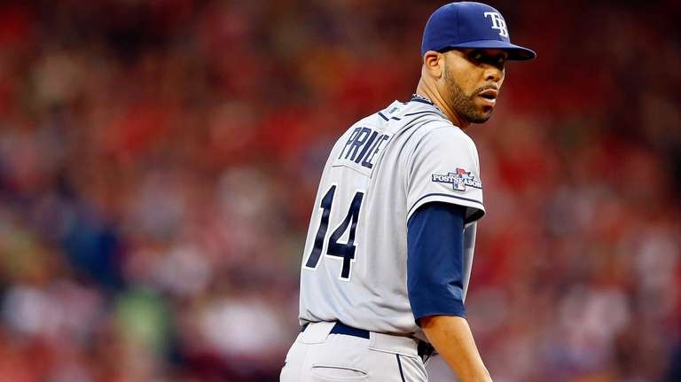 Tampa Bay Rays pitcher David Price looks on