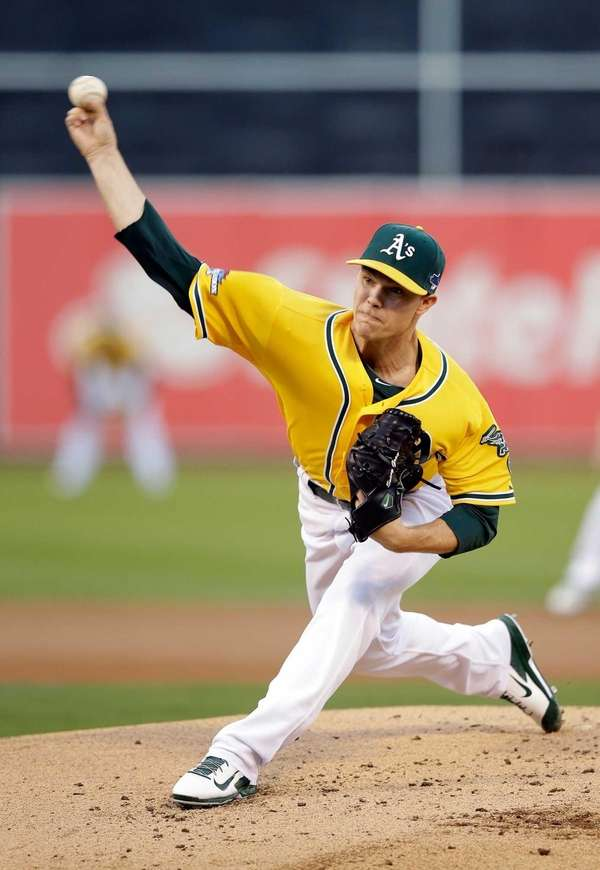 Oakland Athletics pitcher Sonny Gray throws a pitch