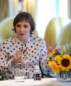 "Actress and filmmaker Lena Dunham speaks at ""About"