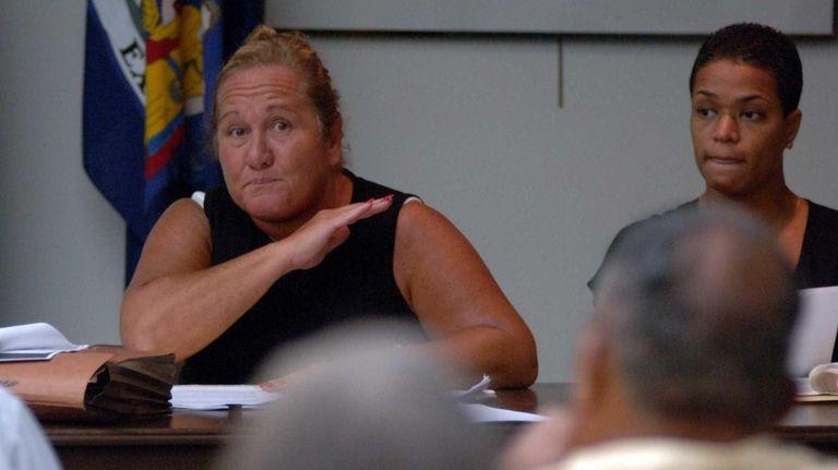 HVillage Attorney Debra Urbano-DiSalvo speaking at a Public