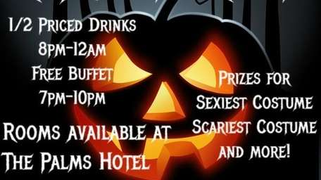 The poster for the Halloween party to be