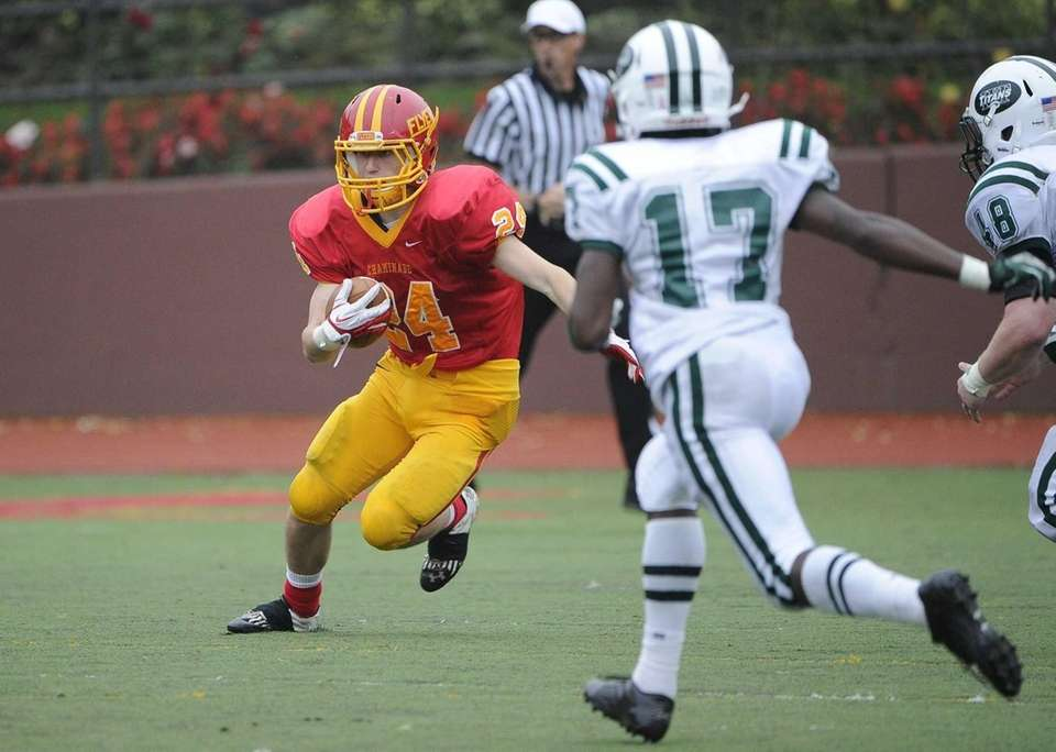 Chaminade running back John Tigh runs the football