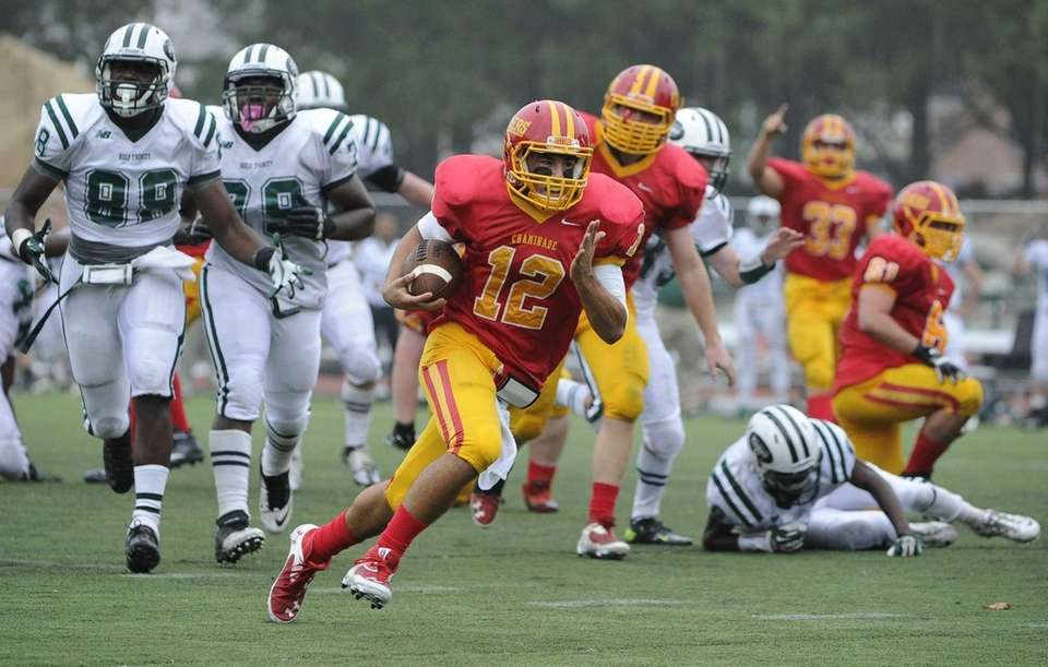 Chaminade quarterback Sean Cerrone rushes for a touchdown