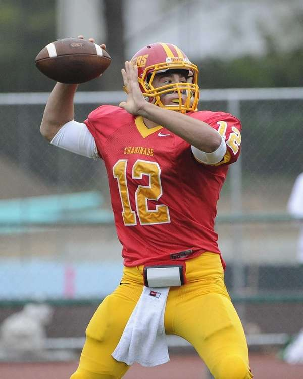 Chaminade quarterback Sean Cerrone throws a pass against