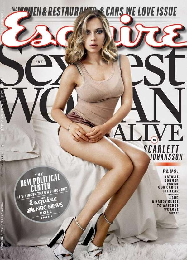 Scarlett Johansson on the cover of Esquire's November