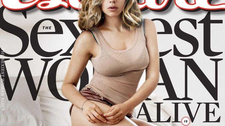 Scarlett Johansson on the cover of Esquire's November