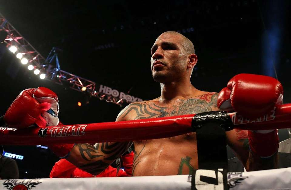 ORLANDO, FL - OCTOBER 05: Miguel Cotto reacts
