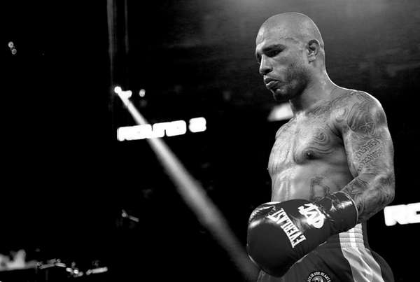 Miguel Cotto during a super welterweight bout against
