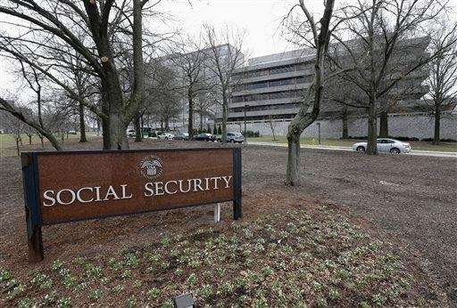 This photo shows the Social Security Administration's main