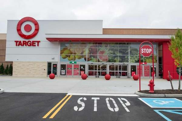 An exterior view of the new Target store