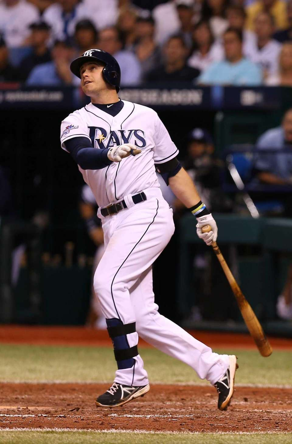 Evan Longoria of the Tampa Bay Rays hits
