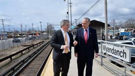 Suffolk County Executive Steve Bellone joined Sen. Charles