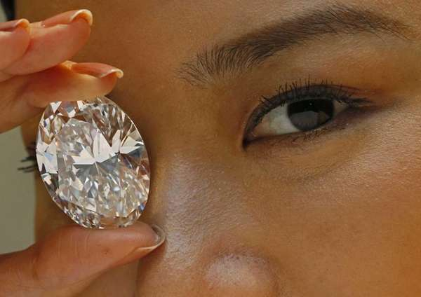 This 118.28-carat white diamond sold for $27.3 million