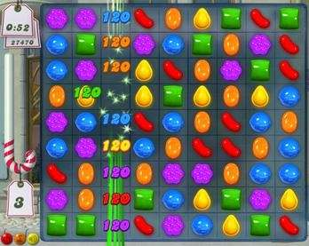 In Candy Crush, gamers create rows or columns