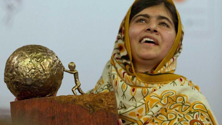 Pakistani teenager Malala Yousafzai, who was shot and