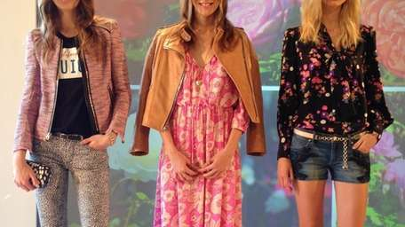 Models wear looks from the Juicy Couture spring/summer