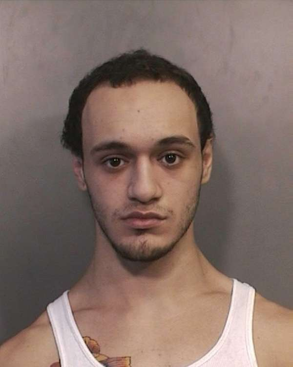 Dominick Marinelli, 20, of Hicksville, was charged in