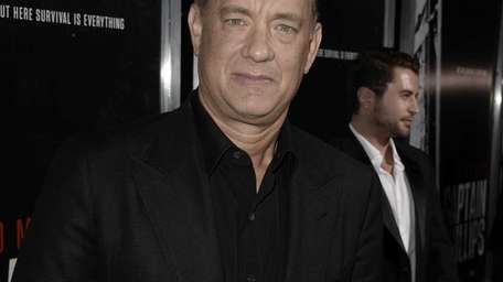 Actor Tom Hanks arrives at the premiere of