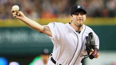 Detroit Tigers pitcher Max Scherzer delivers a pitch