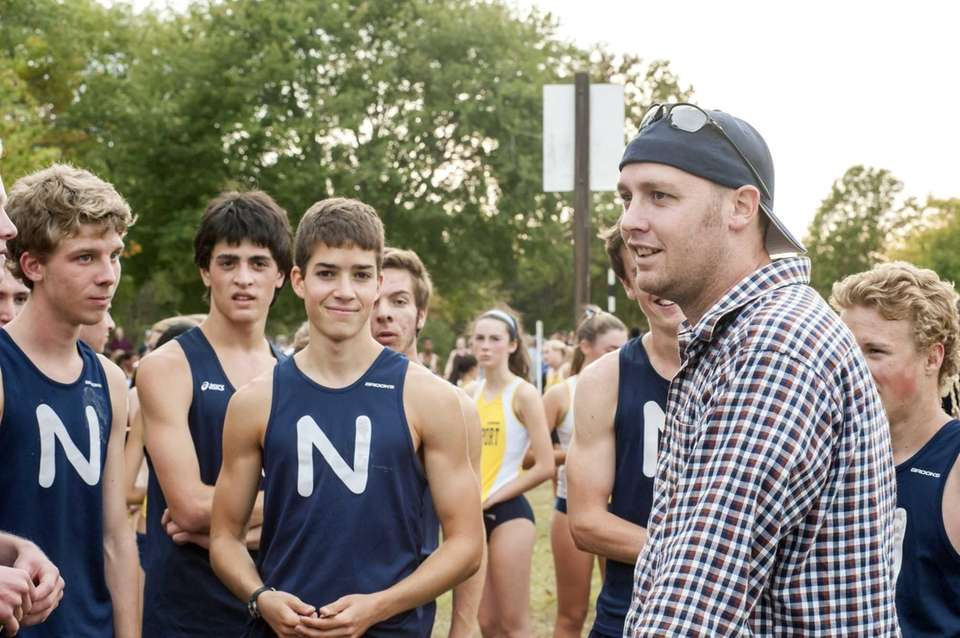 Northport's boys cross country head coach Jason Strom