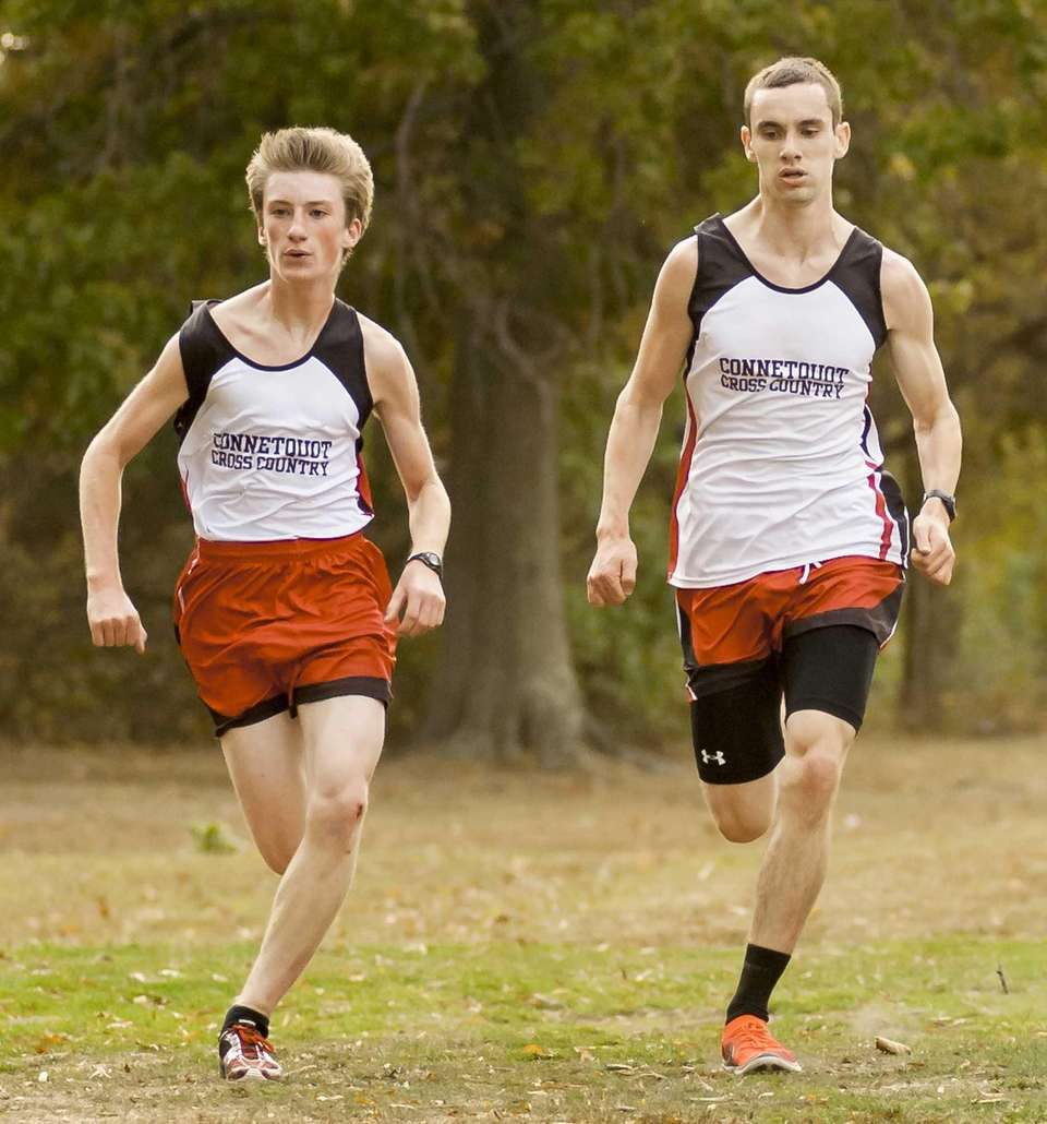 Connetquot's Tim Monahan, left, and Liam Kelly, right,