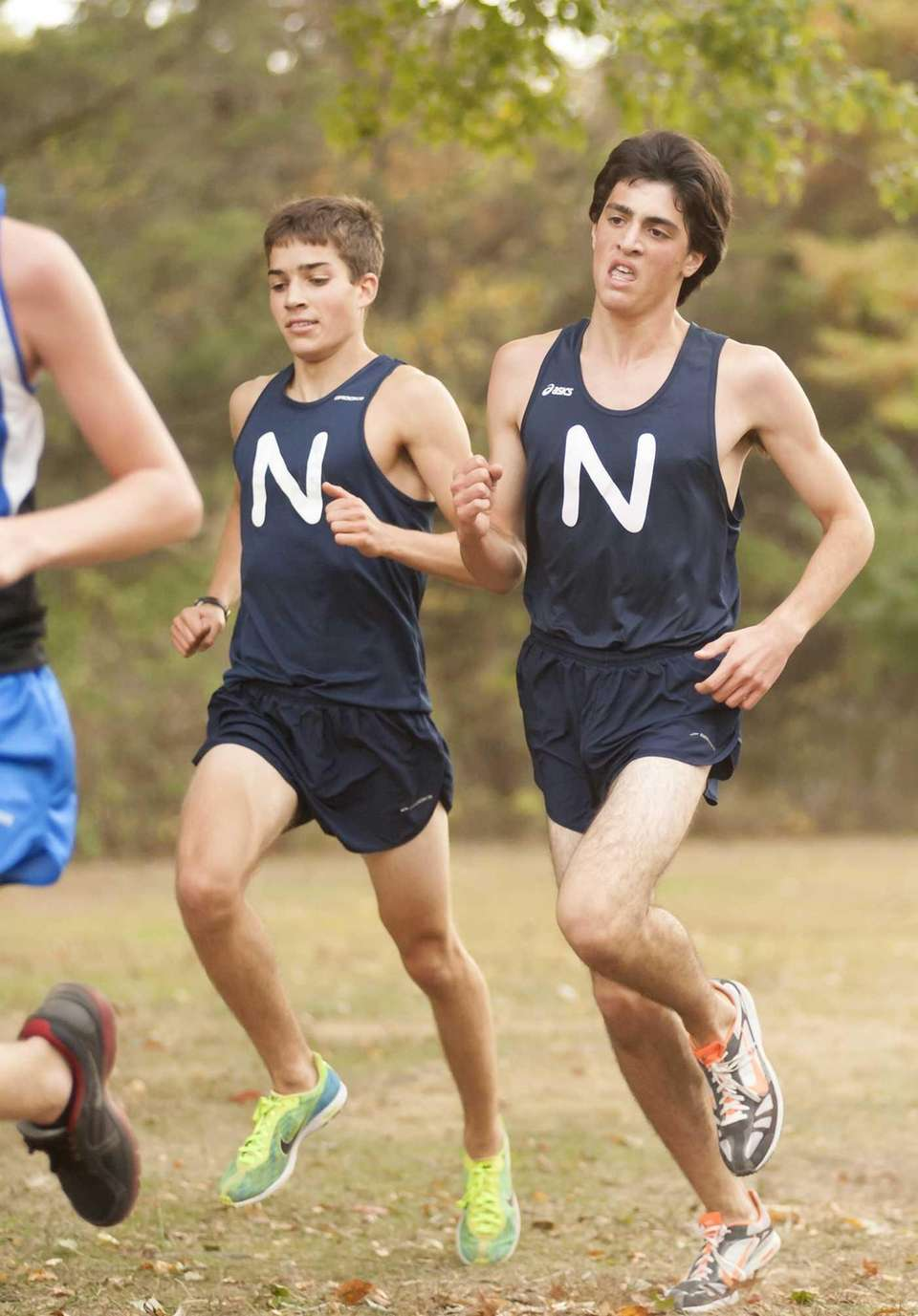 Northport's Nick Termine, left, who finished ninth overall