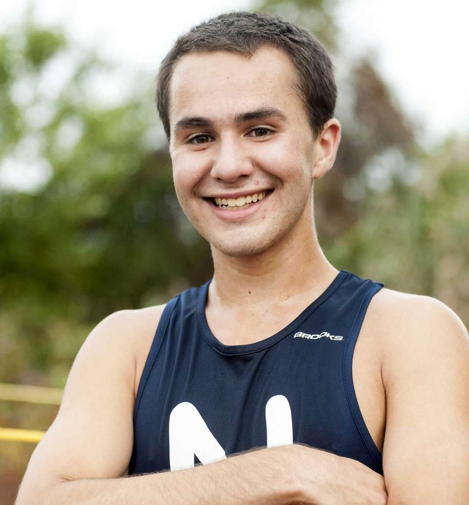 Northport's R.J. Acosta smiles after coming in first