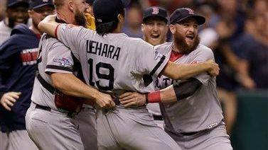 Boston Red Sox relief pitcher Koji Uehara and