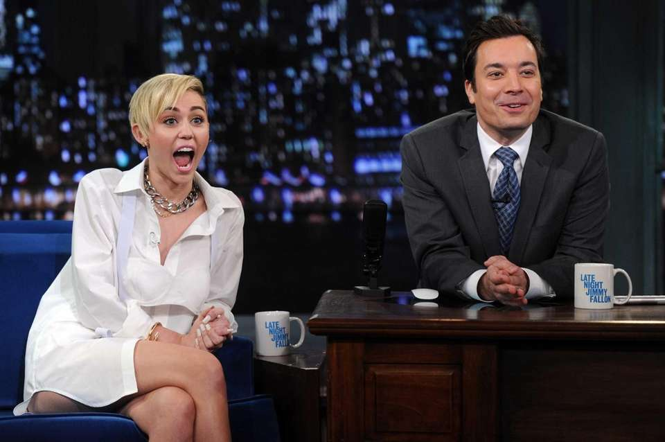 "Miley Cyrus visits ""Late Night With Jimmy Fallon"""