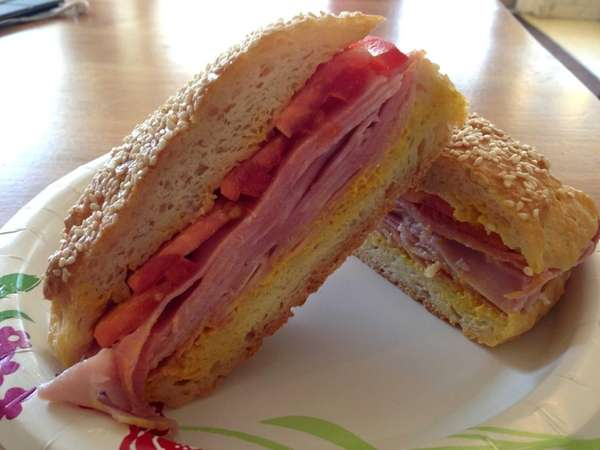 The ham sandwich (and everything else) is gluten-free