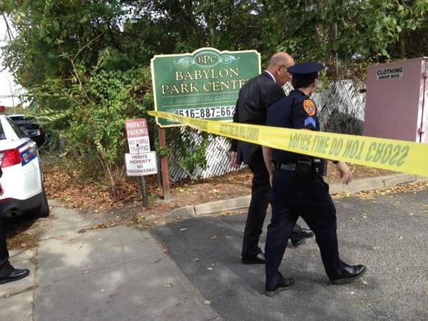 Suffolk County police investigate a shooting by an