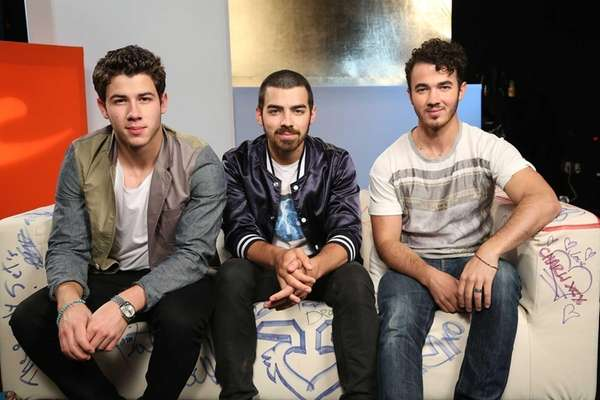 Nick Jonas (from left), Joe Jonas and Kevin