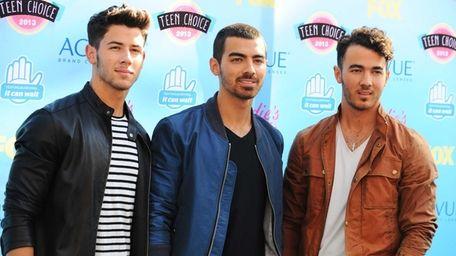 The Jonas Brothers -- from left, Nick, Joe