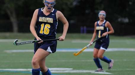 Massapequa's Christina Conkling chases down a loose ball
