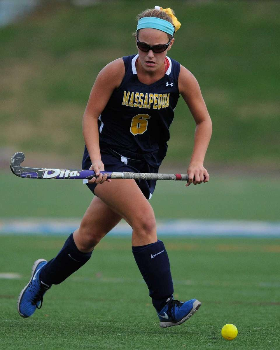 Massapequa's Jamie Ahrens chases after a loose ball