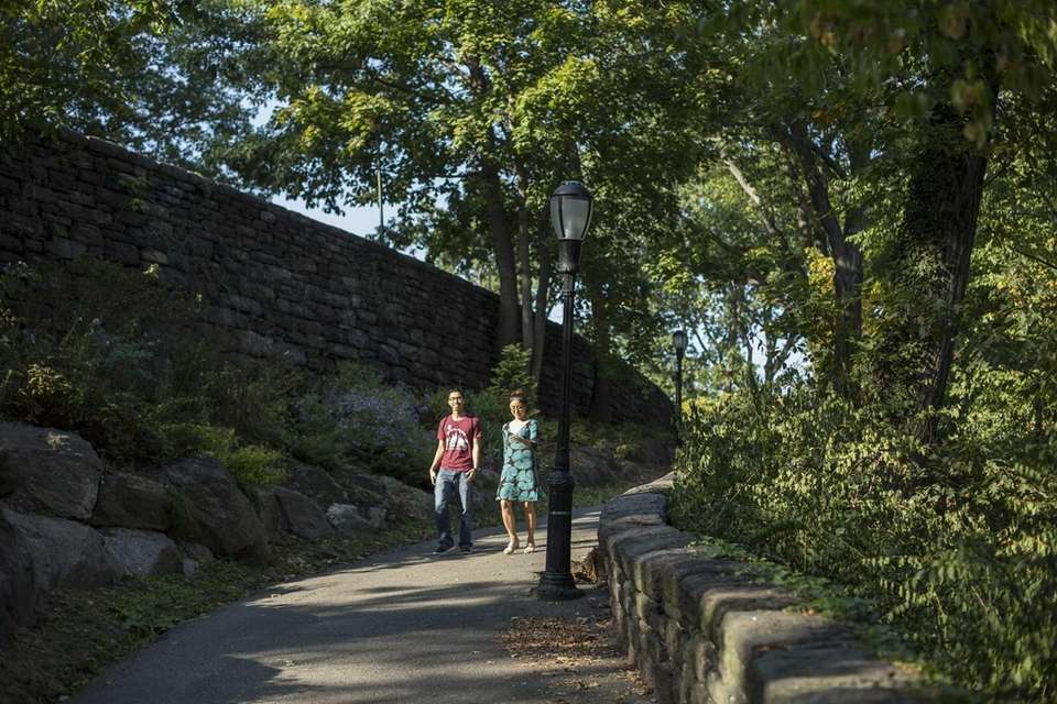 The byzantine pathways of Fort Tryon Park in