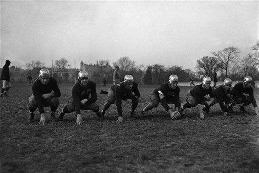 The Varsity line of the Fordham University football
