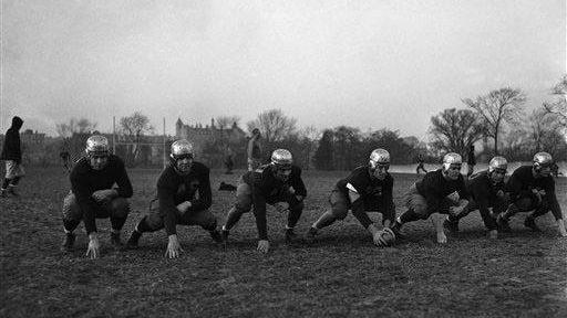 The Varsity line of the Fordham University football