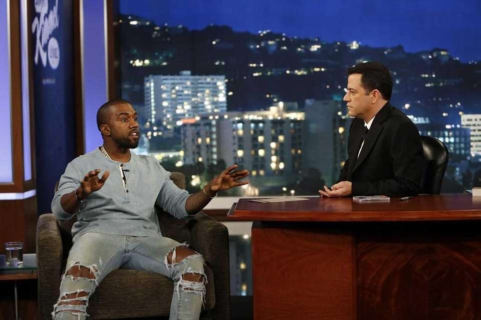 "Kanye West does a 30-minute interview on ""Jimmy"