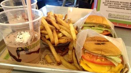 Shakes, fries and burgers are on the menu