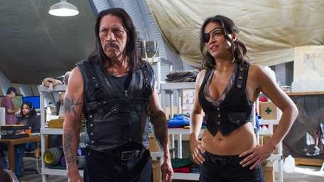 Danny Trejo and Michelle Rodriguez in