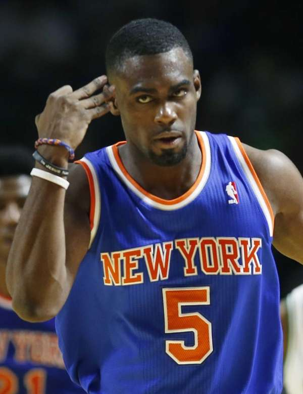 Tim Hardaway Jr. (5) gestures after making a