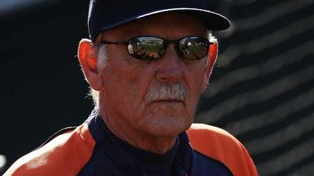 Manager Jim Leyland of the Detroit Tigers looks
