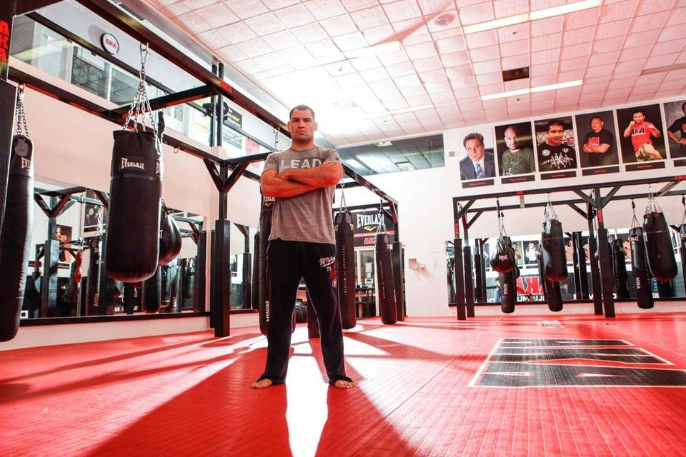 UFC fighter Cain Velasquez poses for a portrait