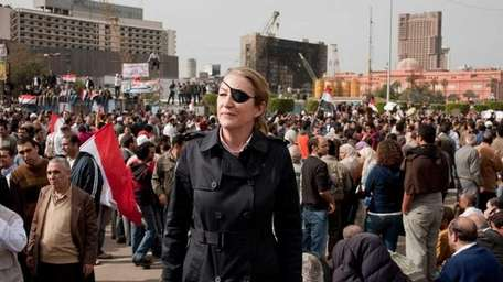 US war correspondent Marie Colvin in Cairo, Egypt.