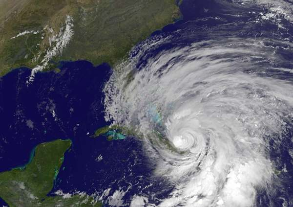 This NOAA satellite image shows Hurricane Sandy. (Oct.